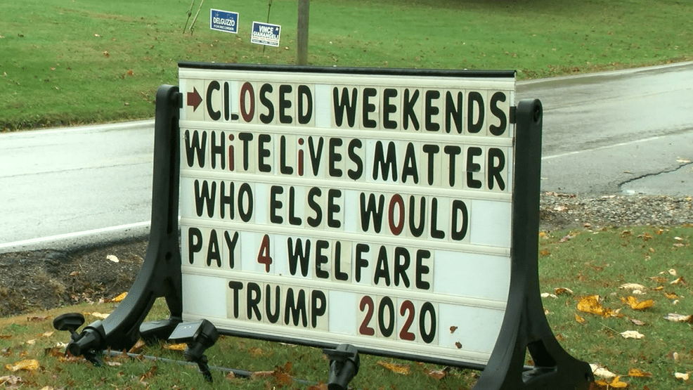 'Who else will pay for welfare?': Business owner says sign is not racist