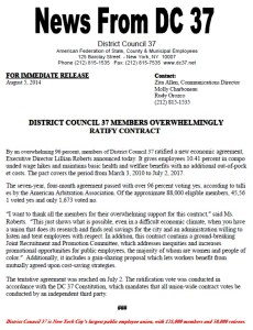 members ratify contract press release