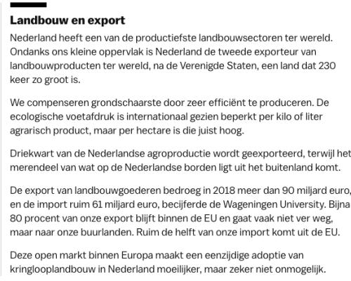 Landbouw en export
