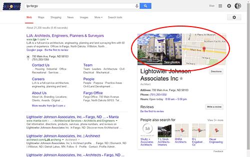 Enhanced Google Lisitng