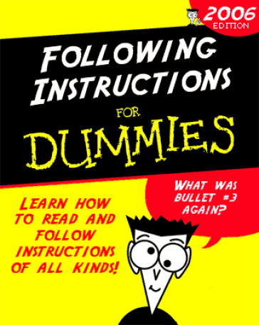 Instructions for dummies