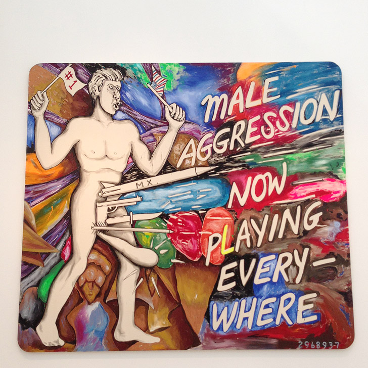 Male Aggression at Los Angeles County Museum of Art.