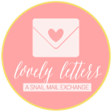 Lovely Letters Snail Mail Pen Pal Program Button.