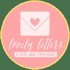 Lovely Letters Snail Mail PenPals Program Button.