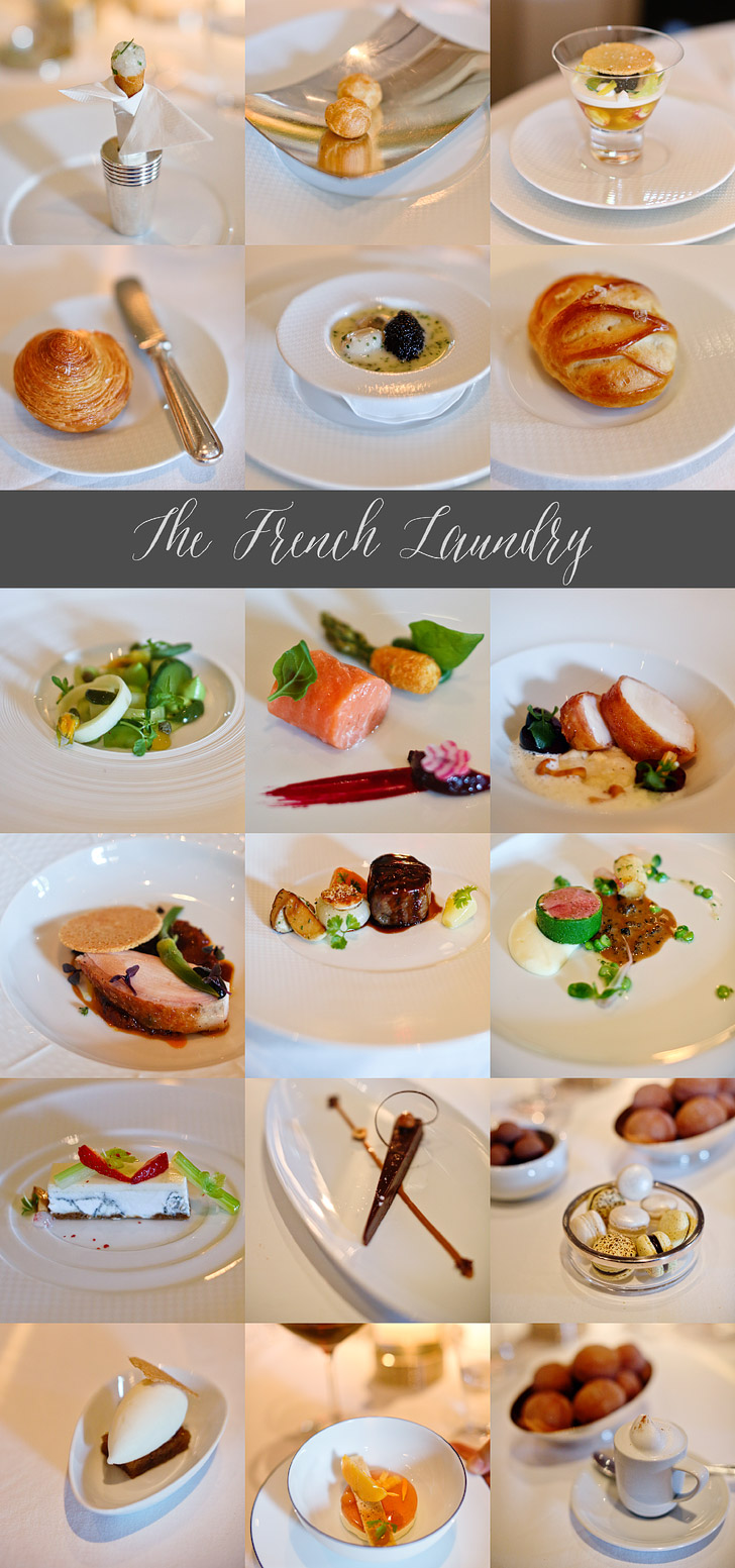 The French Laundry Restaurant Menu for the Day.