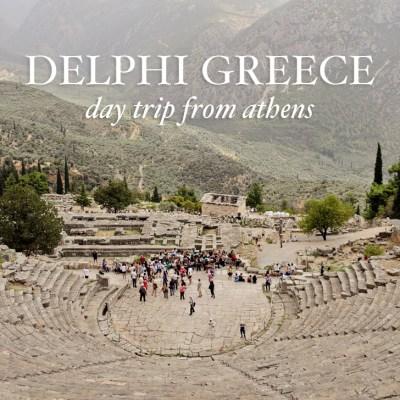 Delphi Greece (Sanctuary of Apollo) - a day trip from Athens // localadventurer.com