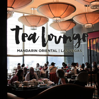 Afternoon Tea at the Mandarin Oriental Las Vegas.