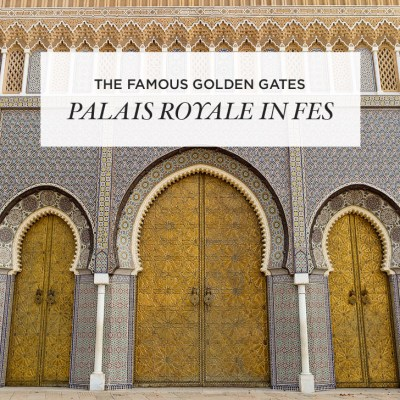 The Famous Doors | The Golden Gates of Palais Royale in Fes Morocco.