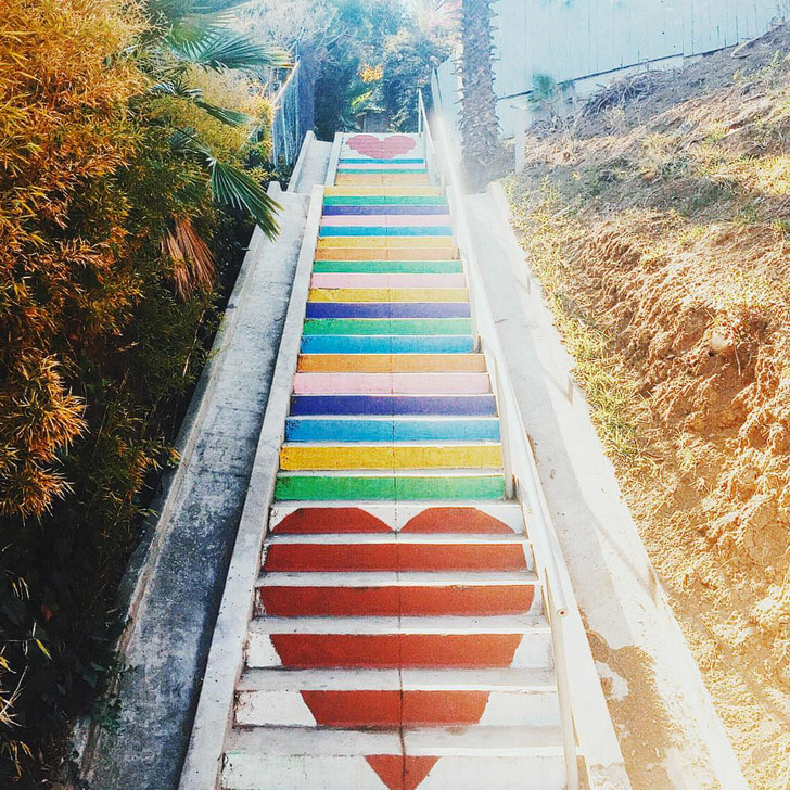 Micheltorena Steps in Silver Lake (25 Most Popular Instagram Spots in Los Angeles).