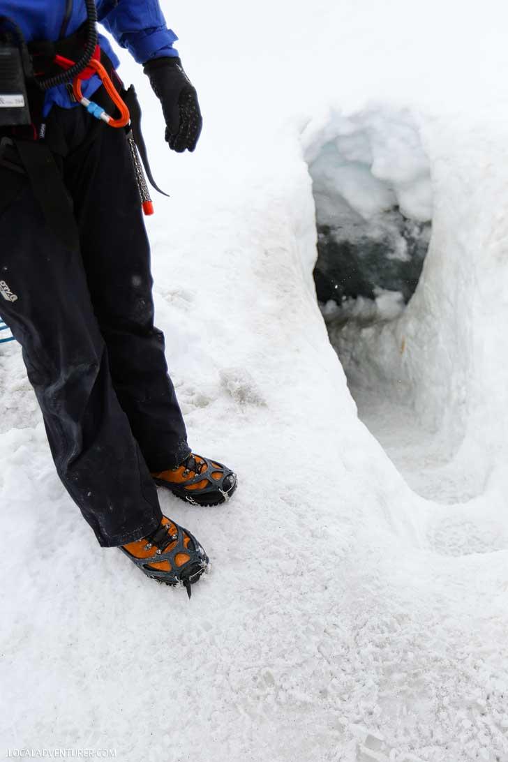 Entrance to the Crystal Cave - Iceland's Largest Ice Cave - Vatnajökull Glacier, Skaftafell National Park Iceland // localadventurer.com