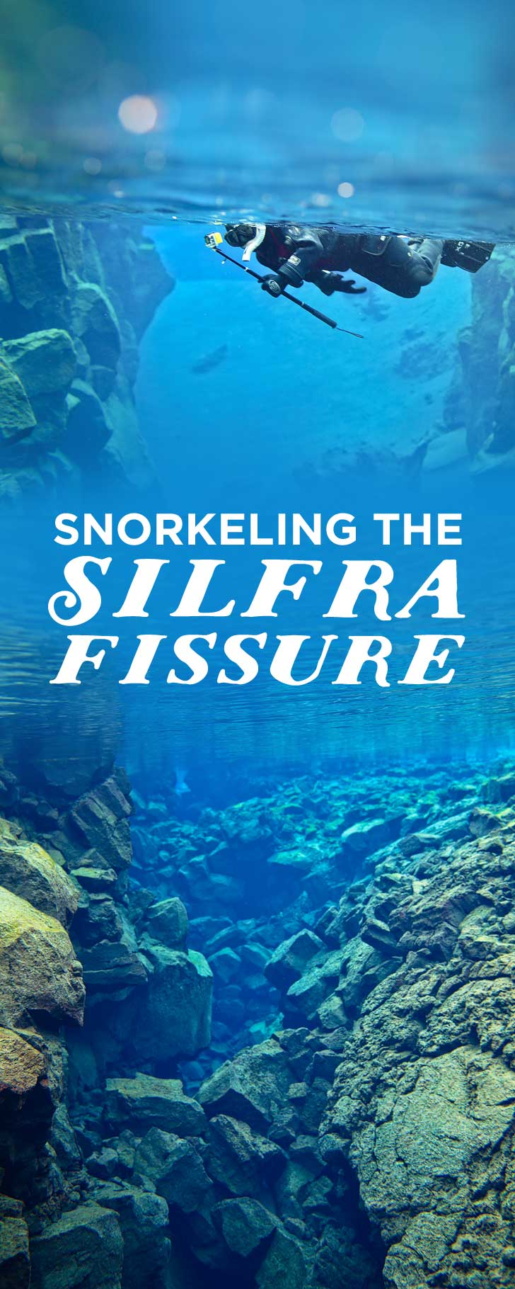 Silfra Snorkeling in Thingvellir National Park Iceland - Snorkel in the Silfra fissure between the North American and Eurasian continental plates. The underwater visibility is over 100 m and the water is pristine and drinkable during your dive or snorkel // localadventurer.com
