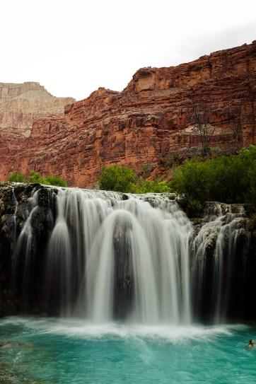 Navajo Falls in the Havasupai Indian Reservation Arizona // localadventurer.com