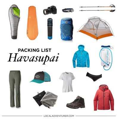 Ultimate Havasupai Packing List - Backpacking to Supai Arizona // localadventurer.com