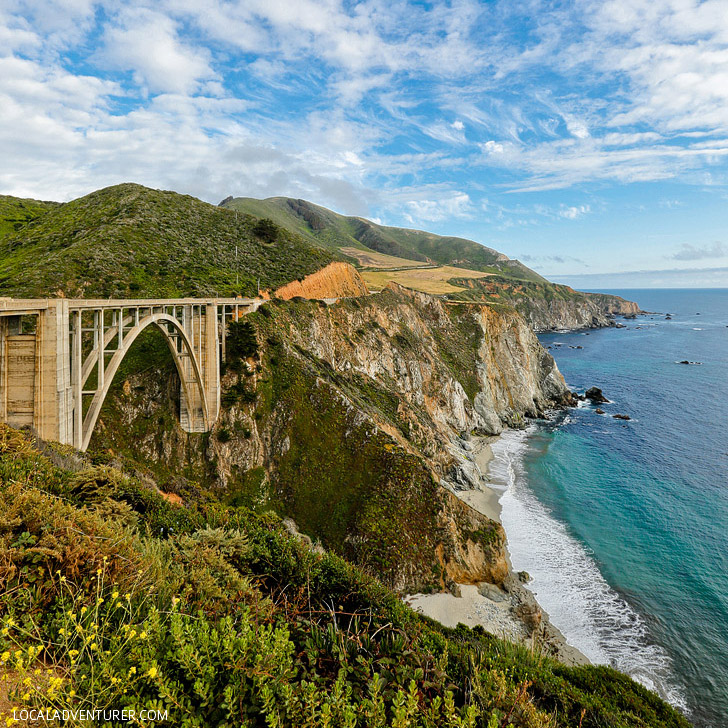 Bixby Bridge on California Highway 1 is an iconic part of Big Sur and a popular spot for photos // localadventurer.com