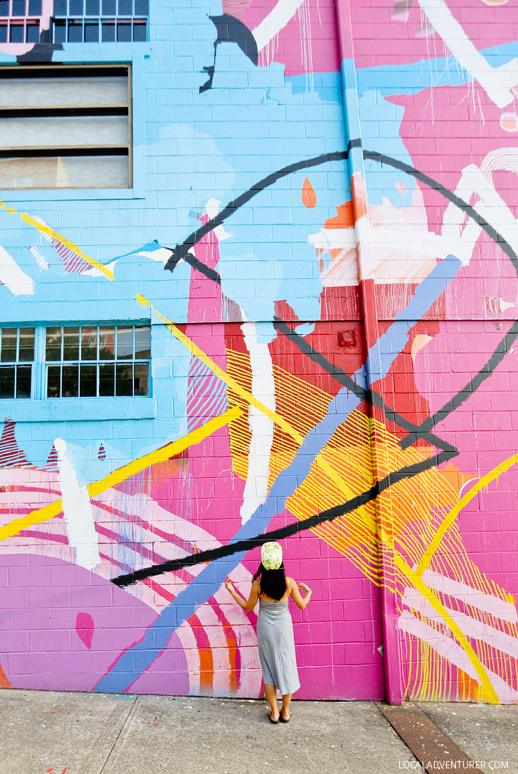 Graffiti wall atlanta - Hense Abstract Wall Best Instagram Spots In Atlanta Localadventurer Com