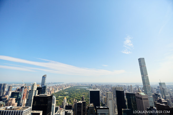 Central Park from Top of the Rock // localadventurer.com