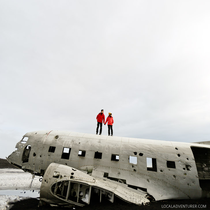 Solheimasandur Plane Wreck on the Beach (Iceland Winter Road Trip - Best Stops and Places to Avoid) // localadventurer.com