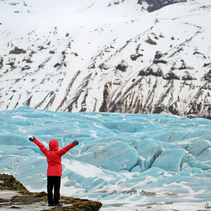 Svinafellsjokull Blue Glacier (Iceland Winter Road Trip - Best Stops and Places to Avoid) // localadventurer.com