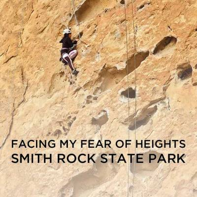 Facing my fear of heights at Smith Rock State Park Oregon // localadventurer.com