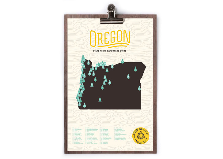 Oregon State Parks Map + Checklist (25