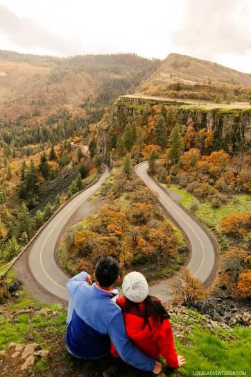 Rowena Crest Viewpoint - 1 1/2 hours east of Portland, Oregon // localadventurer.com