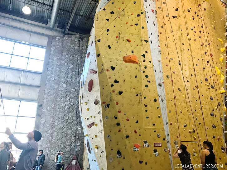 Indoor Rock Climbing Tips from Portland Rock Gym // localadventurer.com