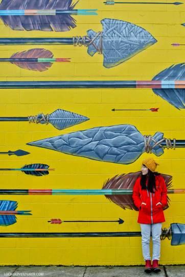 Blaine Fontana Arrows Mural (Guide to Portland's Best Murals) // localadventurer.com