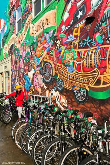 The Community Cycling Center Mural by Robin Corbo + More Amazing Murals in Portland Oregon // localadventurer.com