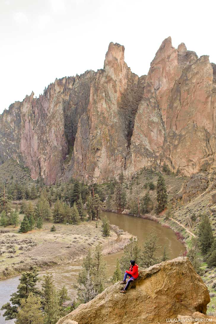 Smith Rock State Park is one of Oregon's Seven Wonders. It's a premier sport climbing destination and has some of the best hikes in Oregon with stunning views. Find out everything you need to know about the park here // localadventurer.com