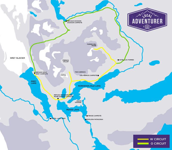 Torres del Paine Map + Essential Tips for Your Visit // localadventurer.com