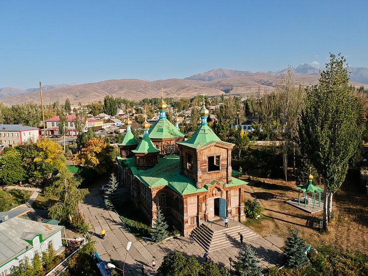 Holy Trinity Cathedral Karakol Kyrgyzstan + Your Essential Guide to Karakol // localadventurer.com