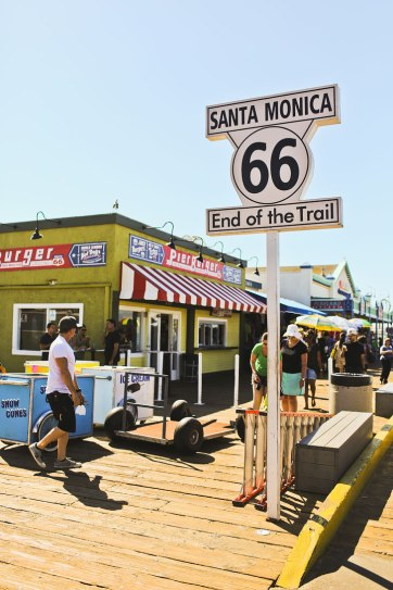 Santa Monica Pier - End of Route 66 + Where to Stop on Your Los Angeles to San Francisco Road Trip // localadventurer.com