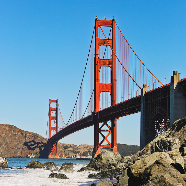 Can't visit SF without visiting the Golden Gate Bridge + Best Places to Stop on Your San Francisco to LA Road Trip // Local Adventurer