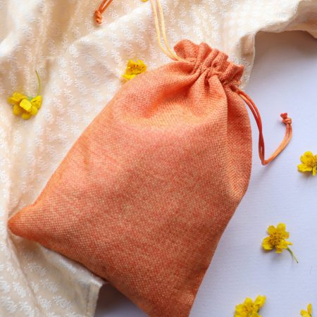 jute bag carrot color