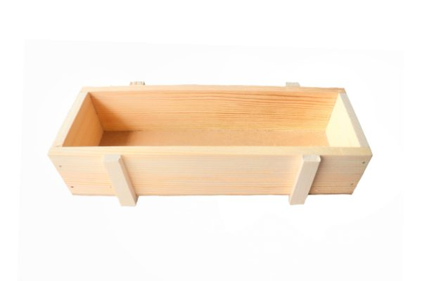 Wooden tray by Local Choice - length view