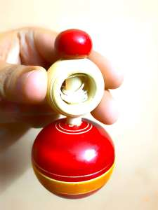 wooden spin top
