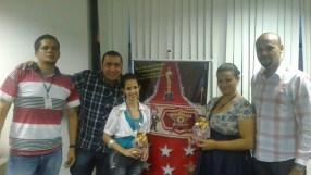 Luciano Correa (coordenador Pesados - Fábrica II), Edson Mello (supervisor WO - Fábrica II), Gilene Barbosa (premiada equipe WO - Fábrica II), Tatiane Fonseca (premiada equipe Pesados - Fábrica II) e Freitas (supervisor Pesados - Fábrica II)