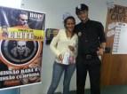 Michele Ingrid (recuperadora premiada) e Bruno Santana (coordenador)