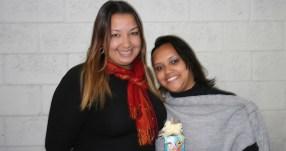 Paula (coordenadora) e Juliana (recuperadora premiada)