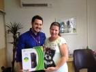 André Machado (gerente filial Curitiba) e Cleonice de Freitas (recuperadora premiada filial Curitiba - equipe Ibi)