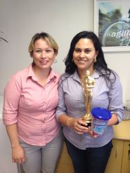 Solange Gabrieli (coordenadora filial Curitiba) e Cristiane Celestino (estrela da filial Curitiba)
