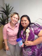 Solange Gabrieli (coordenadora filial Curitiba) e Elaine Gonzaga (estrela da filial Curitiba)