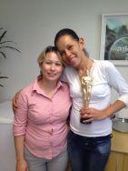 Solange Gabrieli (coordenadora filial Curitiba) e Juliana Carias (estrela da filial Curitiba)