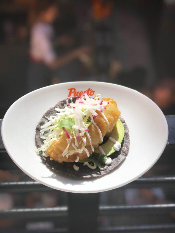 Puesto Baja fish taco courtesy PUESTO and EDGAR CHONG