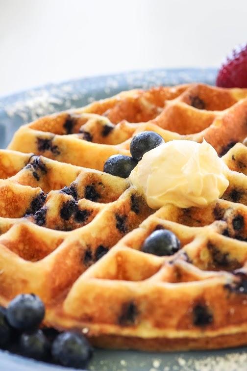 Cafe 222_Blueberry Cornbread Waffle