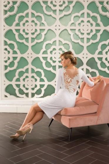 Dress: Crystal Snow Illusion Back Dress