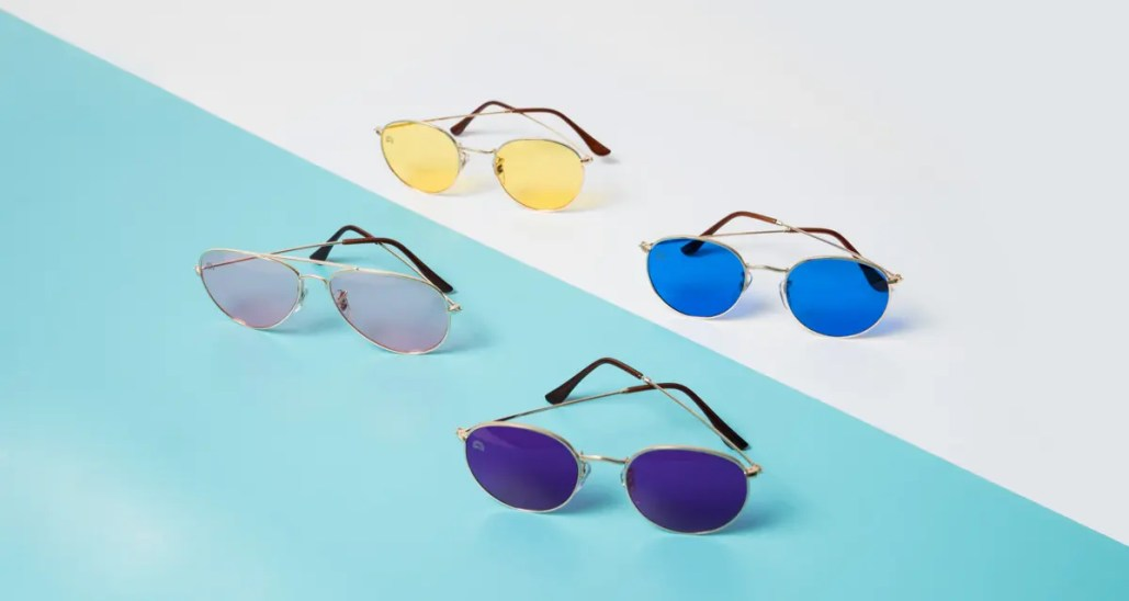 4563032d5e9f7 These Colorful Sunglasses Aim to Better Your Mood - Locale Magazine