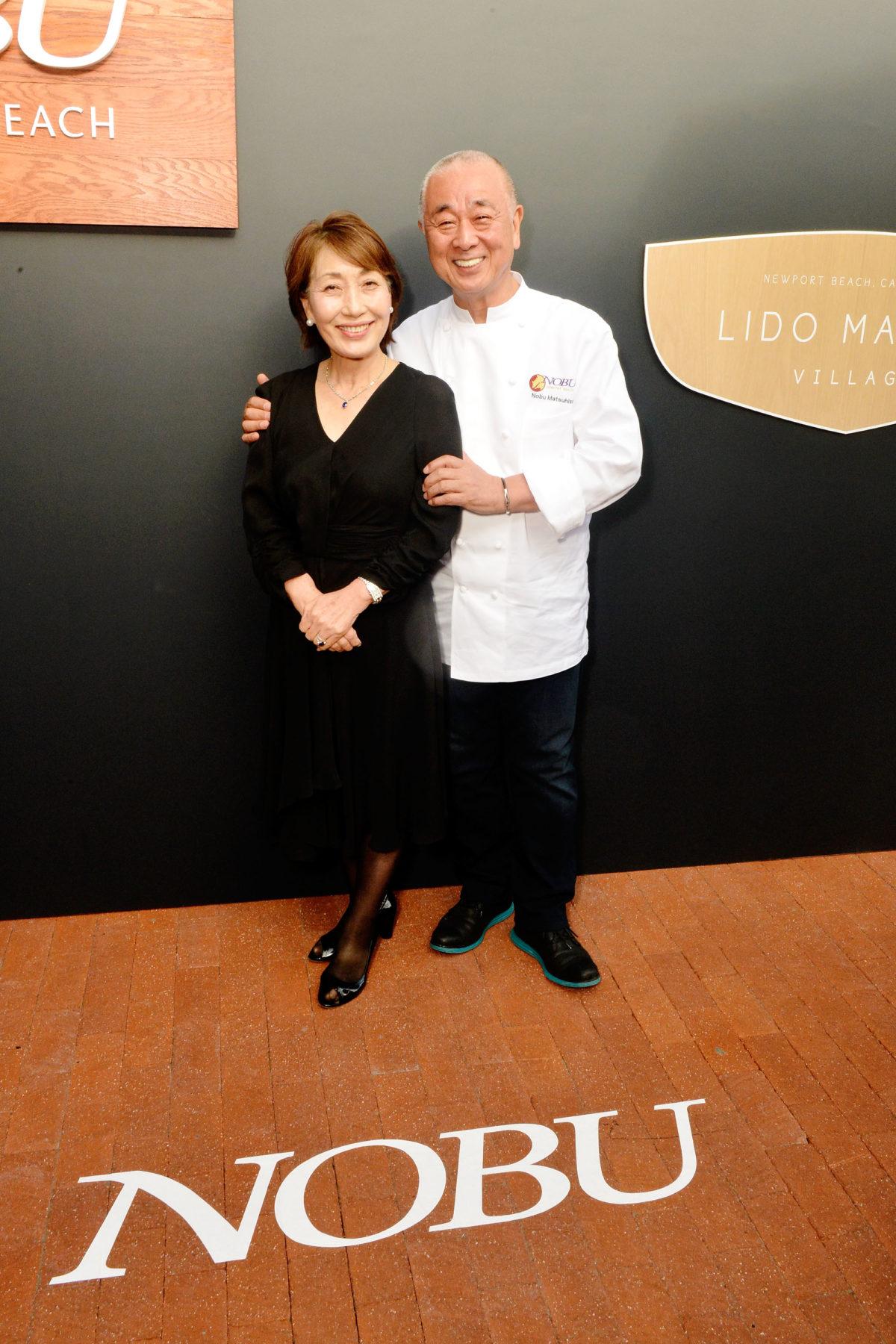 Yoko and Nobu Matsuhisa at the Nobu Newport Beach Sake Ceremony_entrances