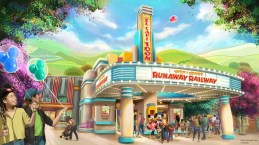"Mickey & Minnie's Runaway Railway will be located in a new area of Mickey's Toontown at Disneyland Park in California. When the attraction debuts in 2022, guests will take a journey inside the wacky and unpredictable world of Disney Channel's Emmy® Award-winning ""Mickey Mouse"" cartoon shorts. (Disney)"