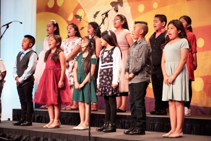 Back by popular demand, Illumination Foundation's Children's Choir charmed the OC Chef's Table guests and long-standing Disneyland® characters, too.